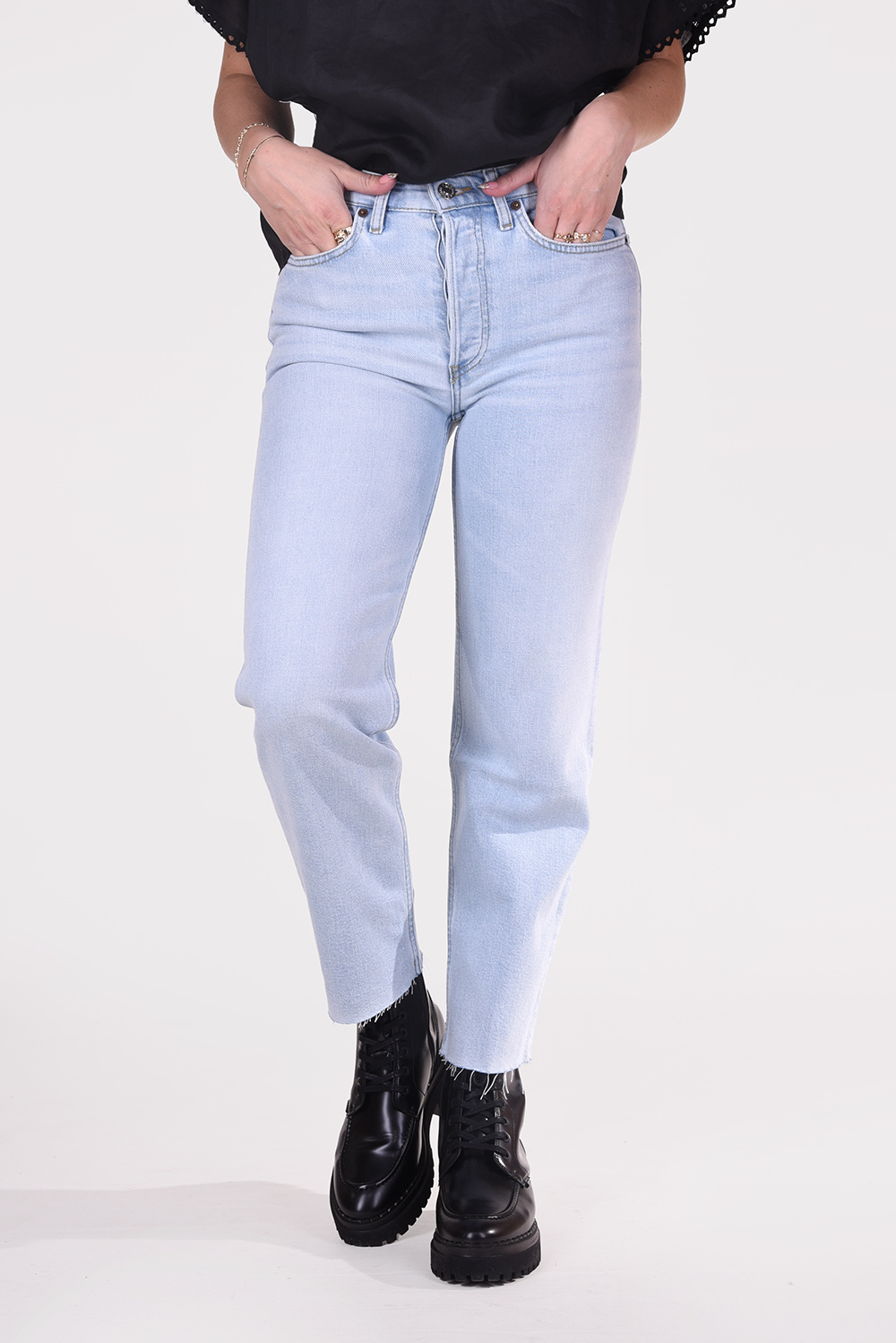Re/Done jeans 70s Stove Pipe 190-3WSTV27/B blauw