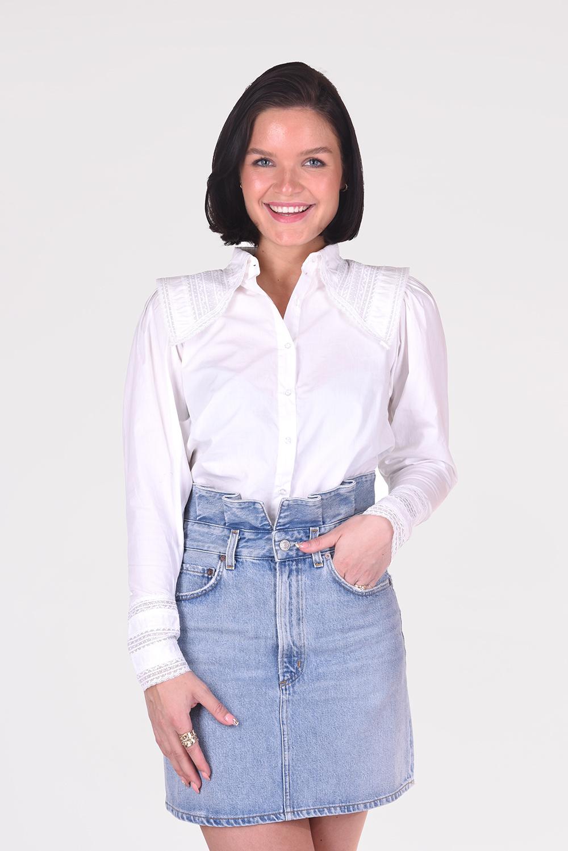 Magali Pascal blouse Denise T14 wit