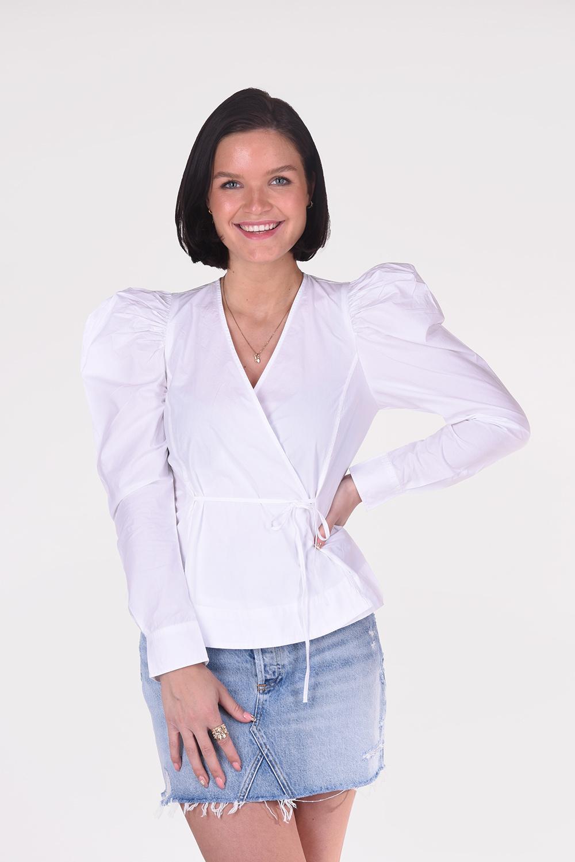 Ganni blouse F6035 wit