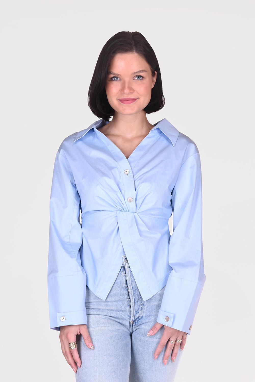 Nanushka blouse Idris NW21RSTP01051 blauw