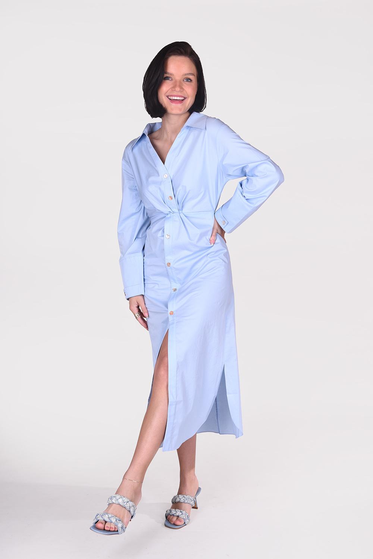 Nanushka jurk Ayse NW21RSDR00351 blauw