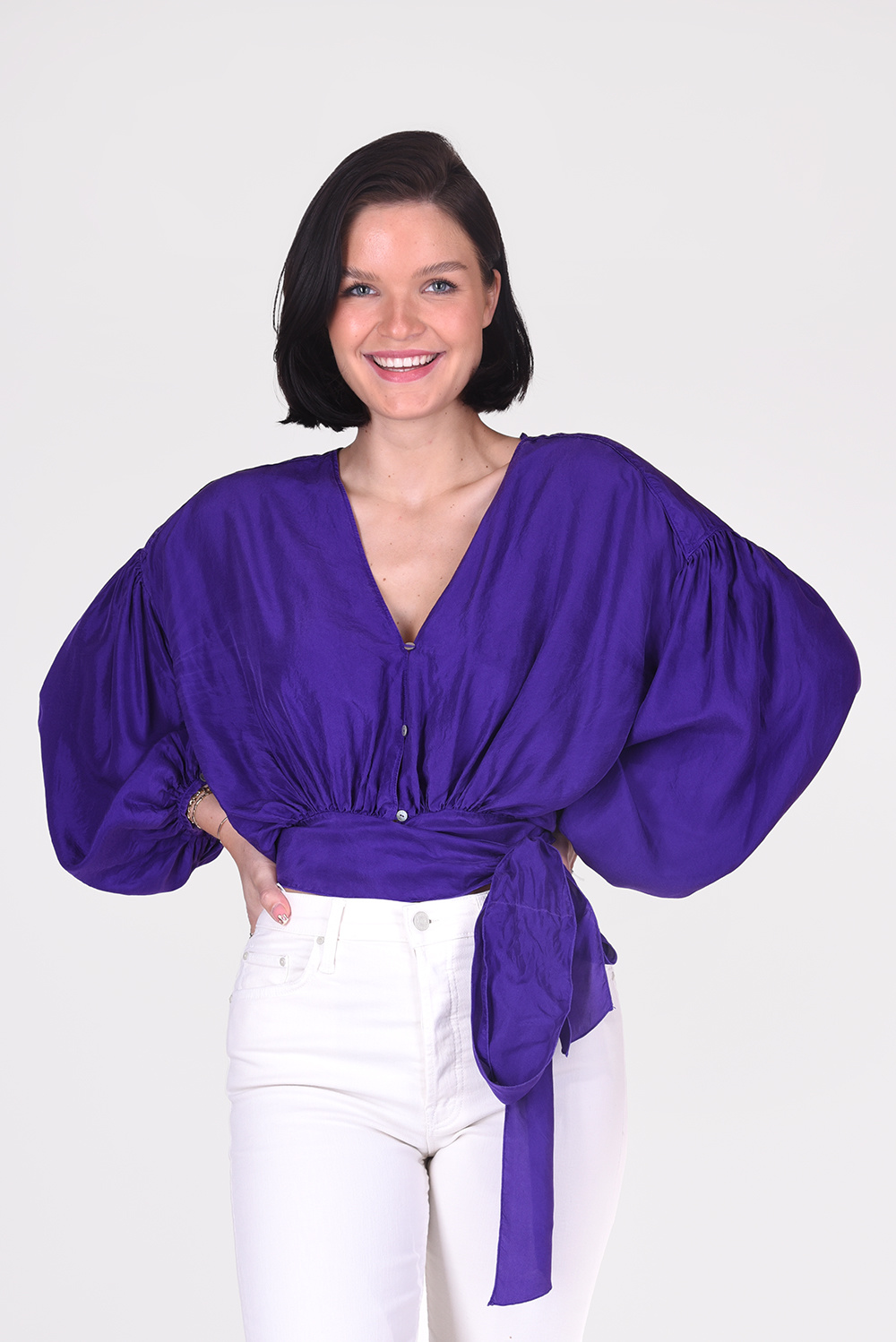 Forte_Forte blouse 8233 paars