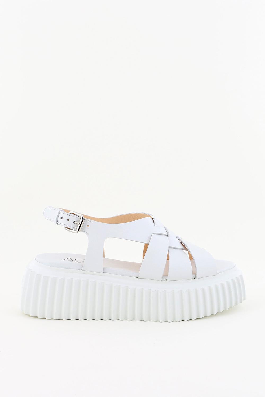 AGL sandalen violante D642056 wit