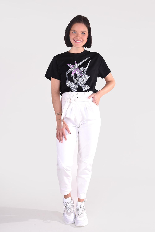 IRO t-shirt Zeber WP19ZEBER zwart