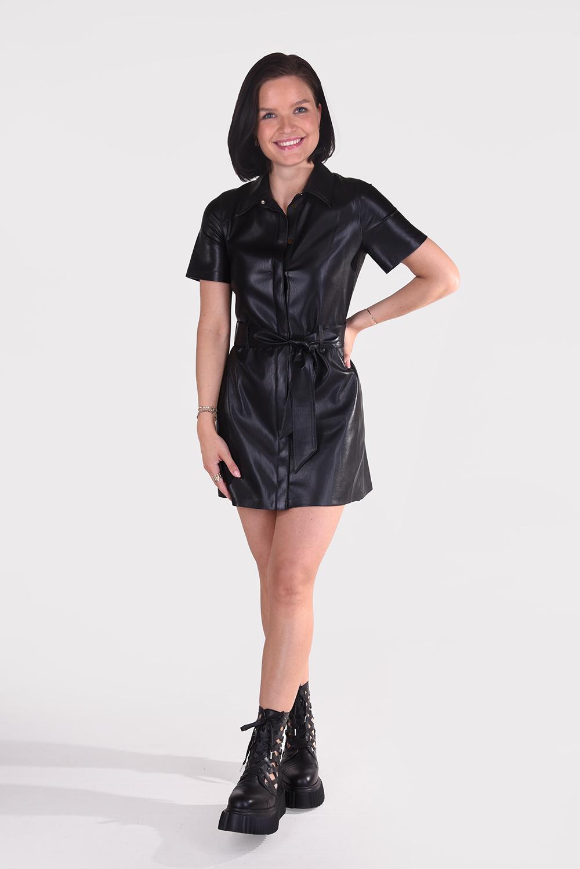 Nanushka jurk Halli NW20CRDR02299 zwart