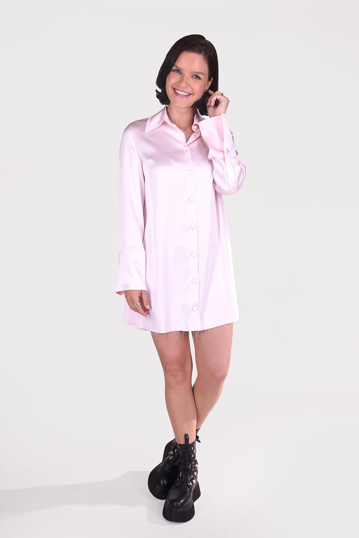 Nanushka blouse Gabi NW21PFDR00531 roze