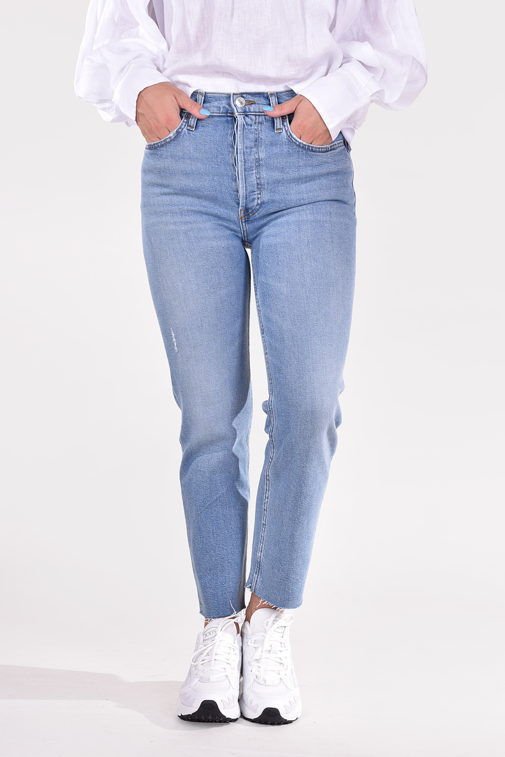 Re/Done jeans 70s Stove Pipe 189-3WSTV27 blauw