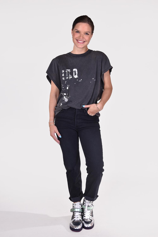 IRO t-shirt Grungy WP21GRUNGY zwart