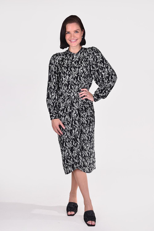 IRO jurk Yakin WM33YAKIN zwart/wit