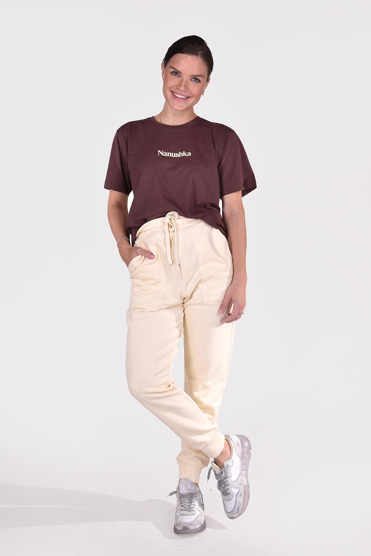 Nanushka t-shirt Reece NM21PFTP00478 bruin