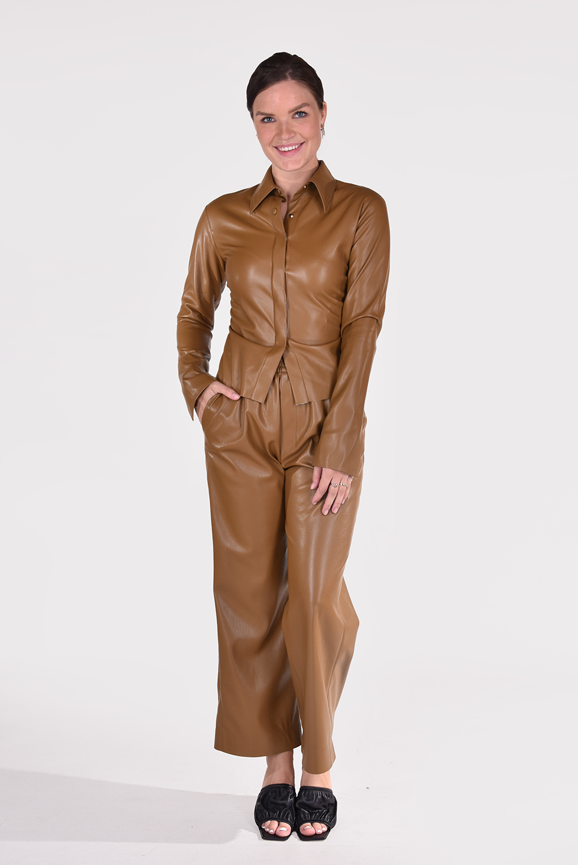 Nanushka blouse Shado NW21PFSH00876 bruin