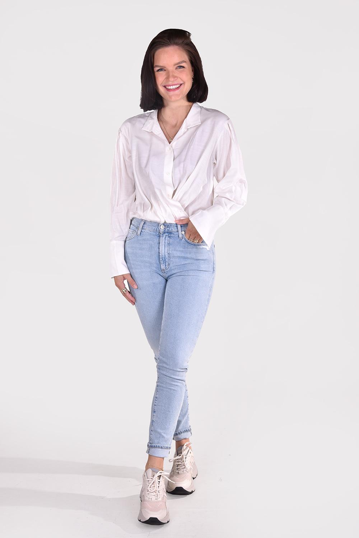 FRAME blouse Wrap LWSH1735 wit