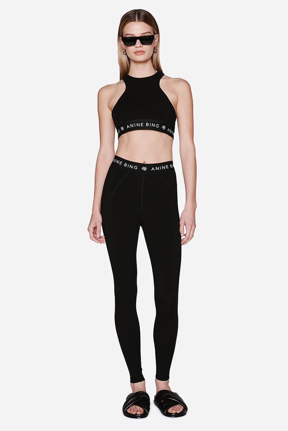 Anine Bing broek Carly S-03-3097-000 zwart