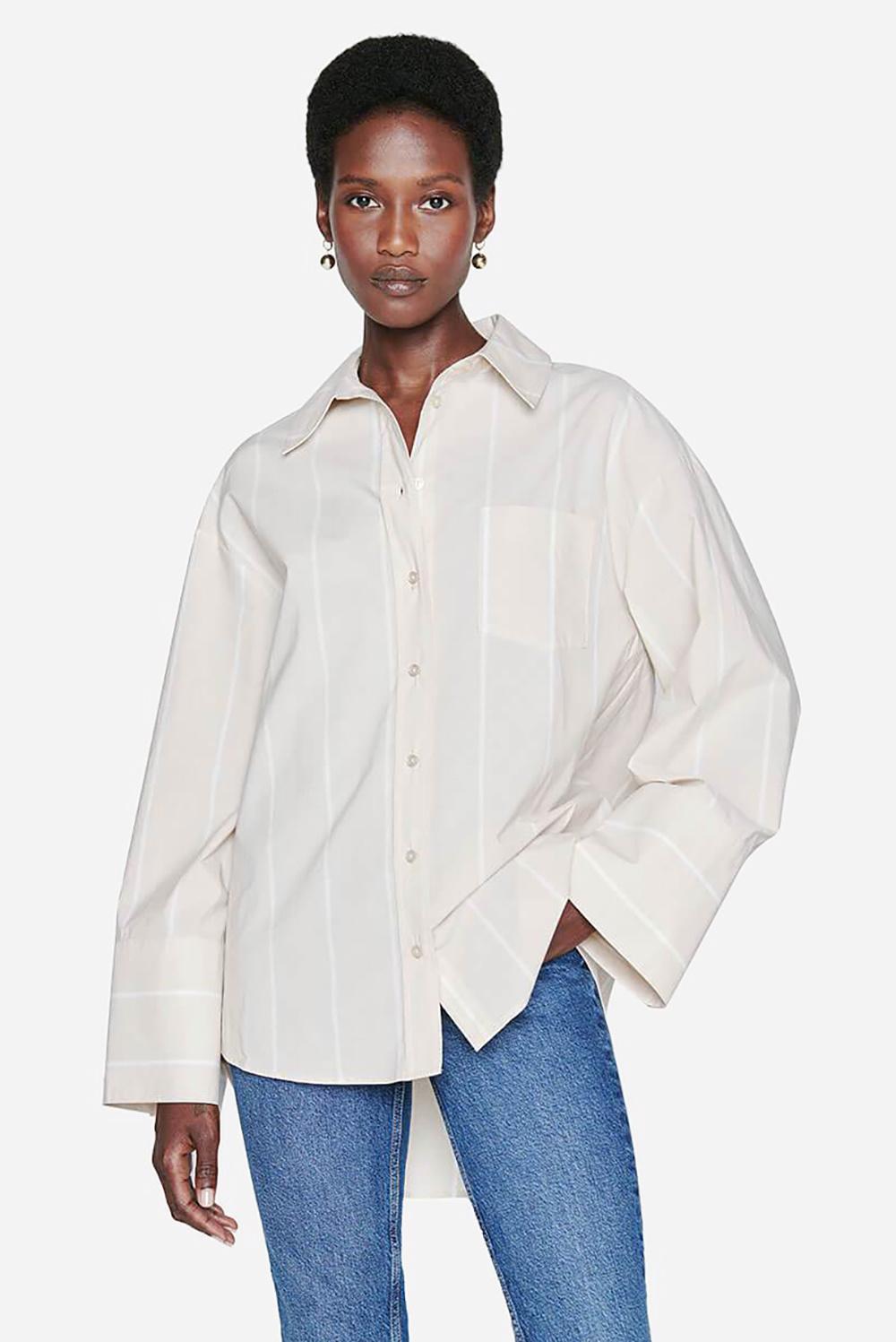 Anine Bing blouse Allie A-07-3190-184 beige