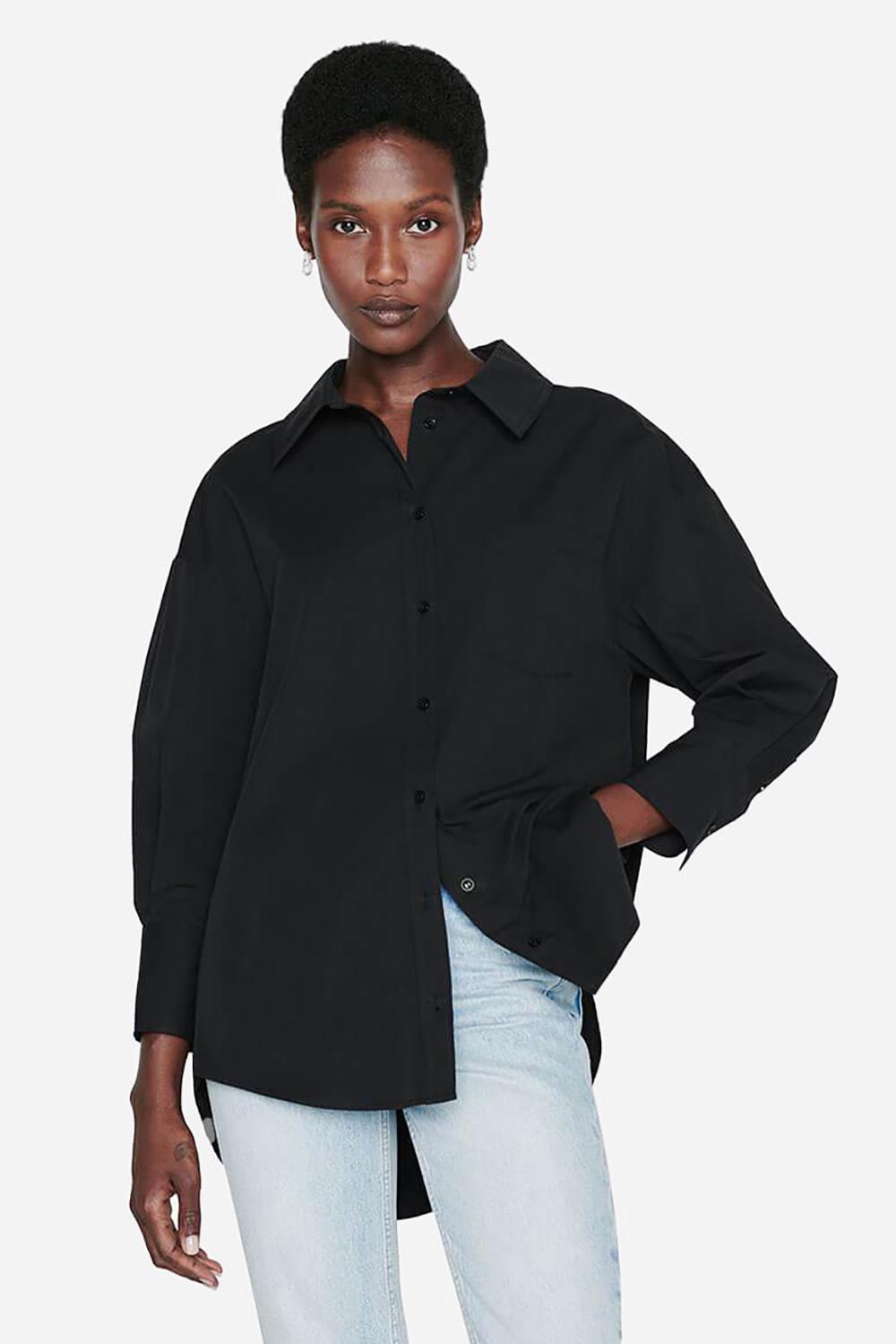 Anine Bing blouse Mika A-07-3006-000 zwart