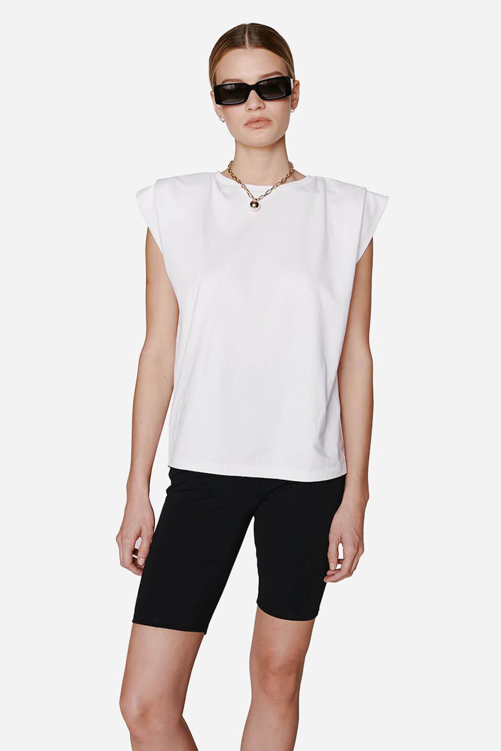Anine Bing t-shirt Tanner A-08-2169-100 wit