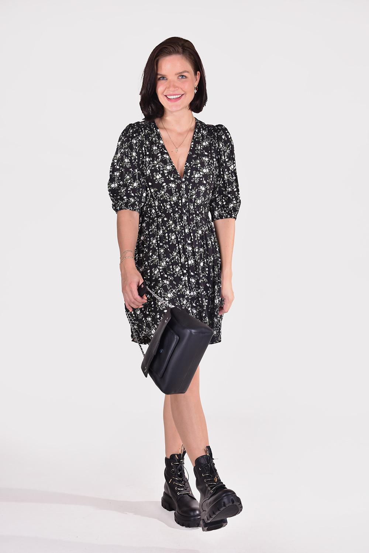 Ganni jurk F6331 zwart