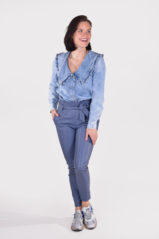 Ganni blouse F6018 blauw
