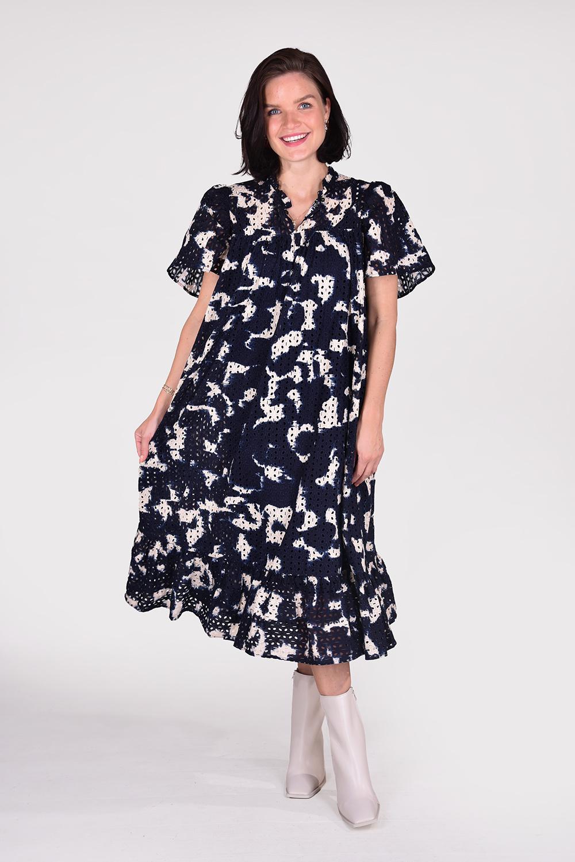 Munthe jurk Reliz 1307 blauw