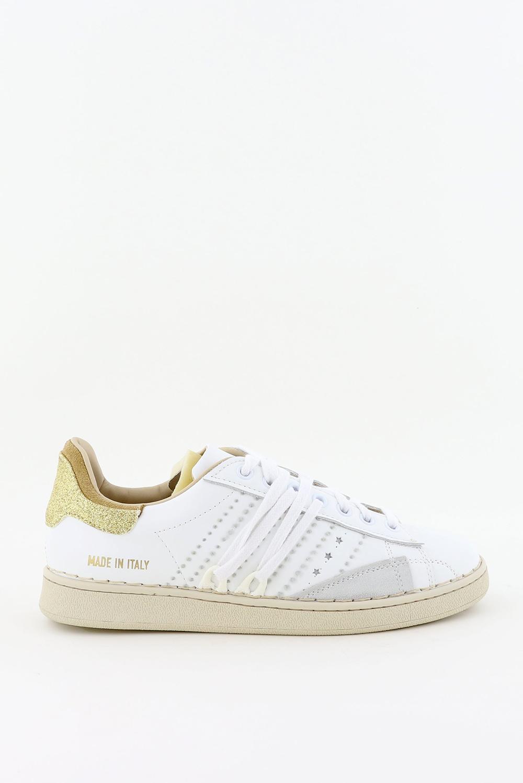 Hidnander sneakers Stripeless HC2WS150 wit/goud