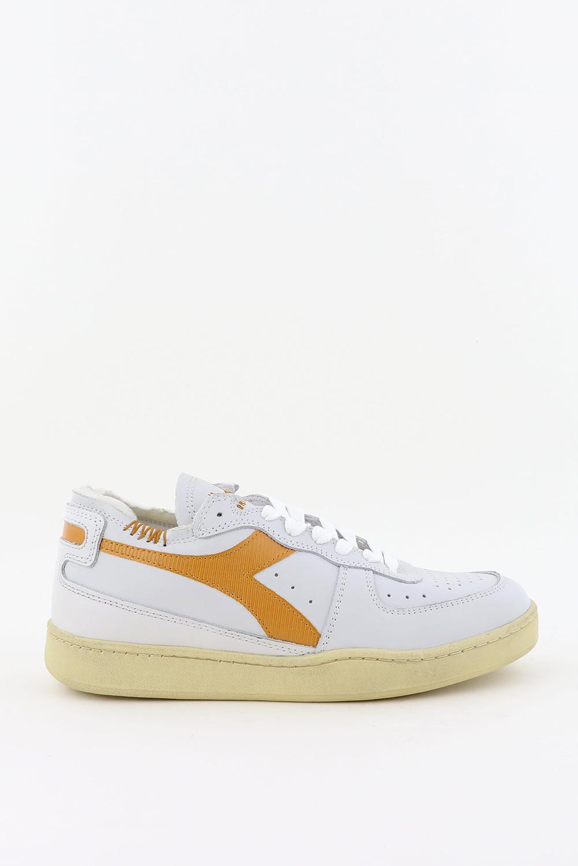 Diadora Heritage sneakers Mi Basket Row Cut 201.176282 wit/cognac