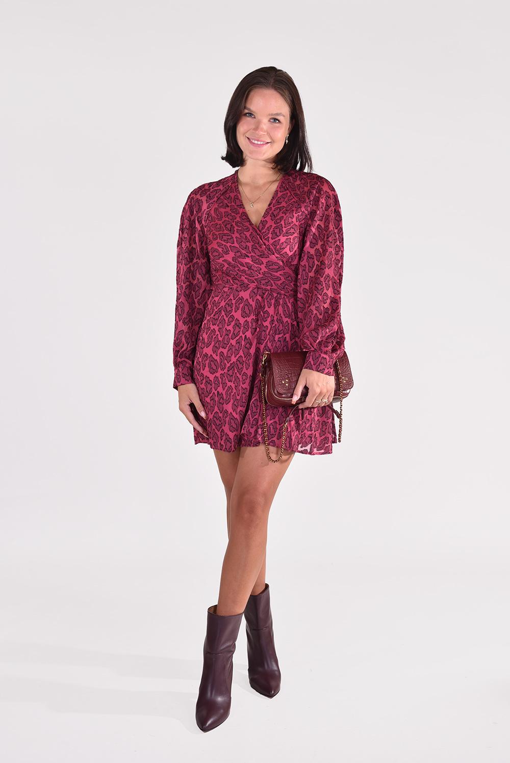 IRO jurk Tiestina WM33TIESTINA roze