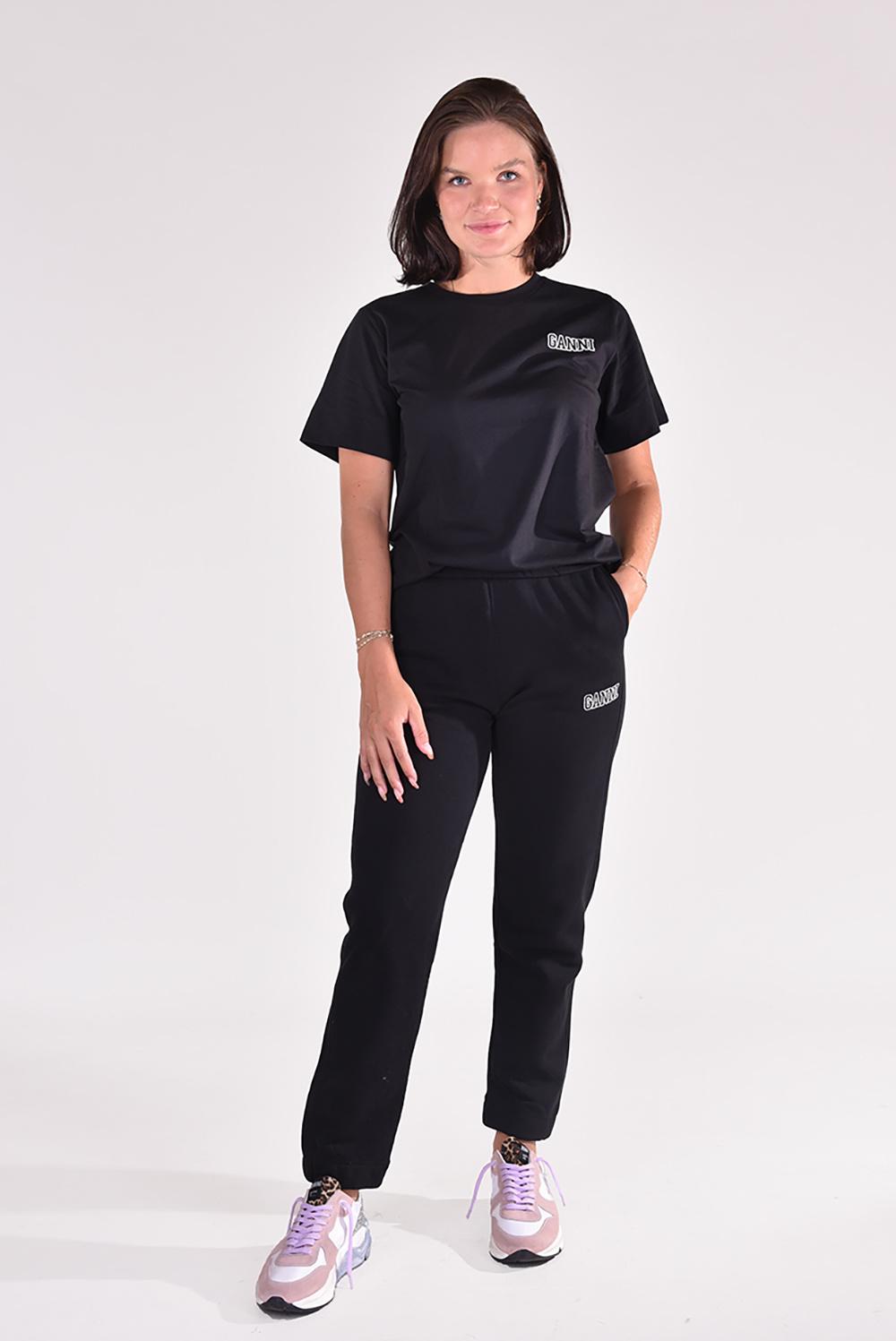 Ganni t-shirt T2917 zwart