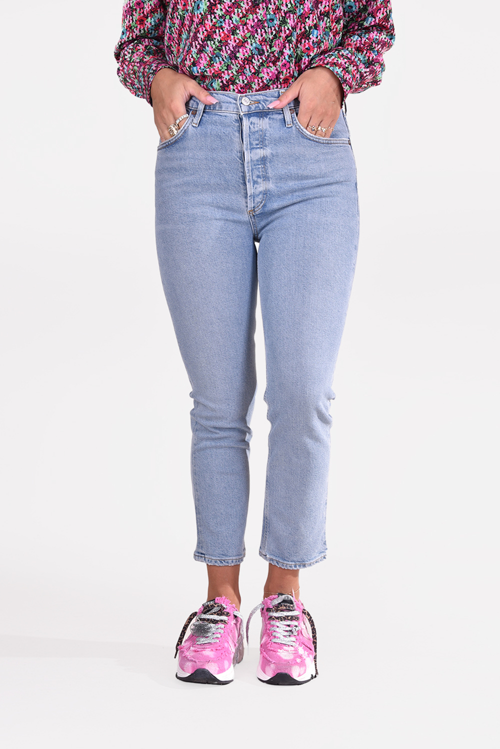 Agolde jeans Riley A056C-1255 blauw