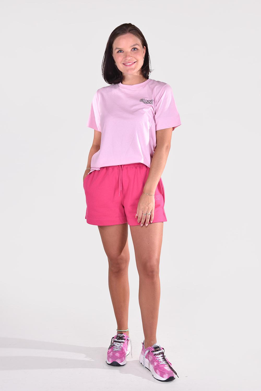 Ganni t-shirt T2917 roze