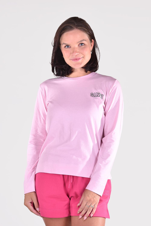 Ganni t-shirt T2983 roze