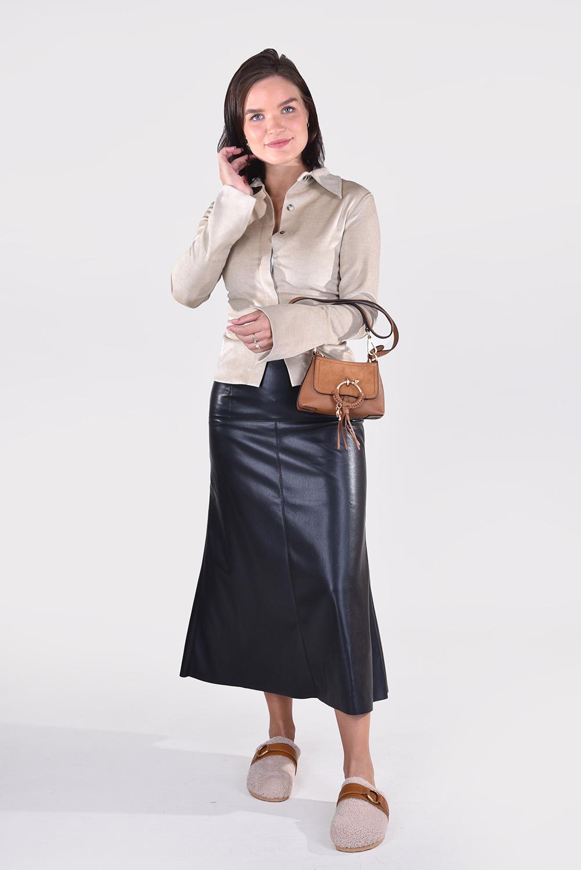 Nanushka blouse Shado NW21FWSH00873 beige