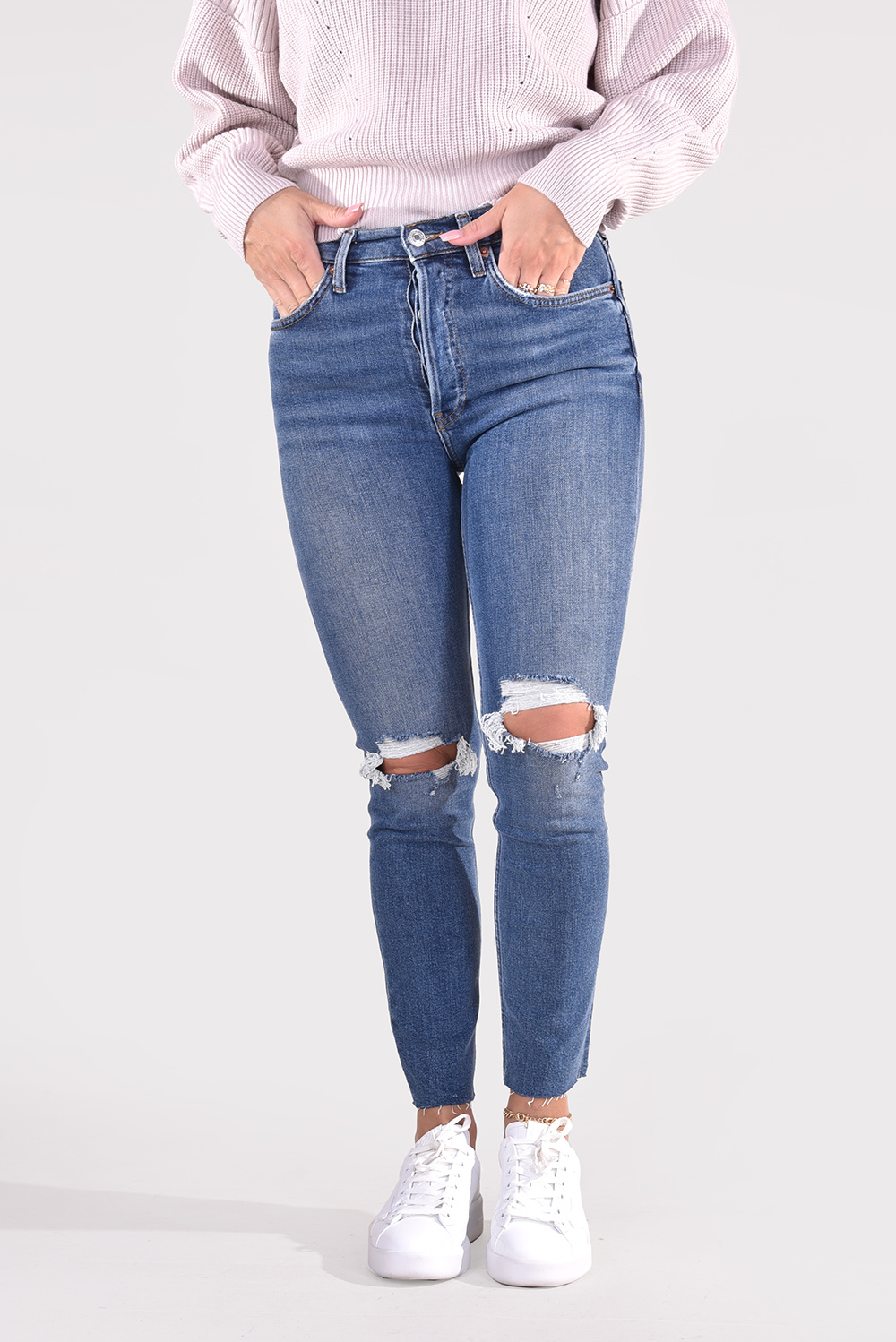 Re/Done jeans 90s High Rise Ankle Crop 190-3WHRAC/B blauw