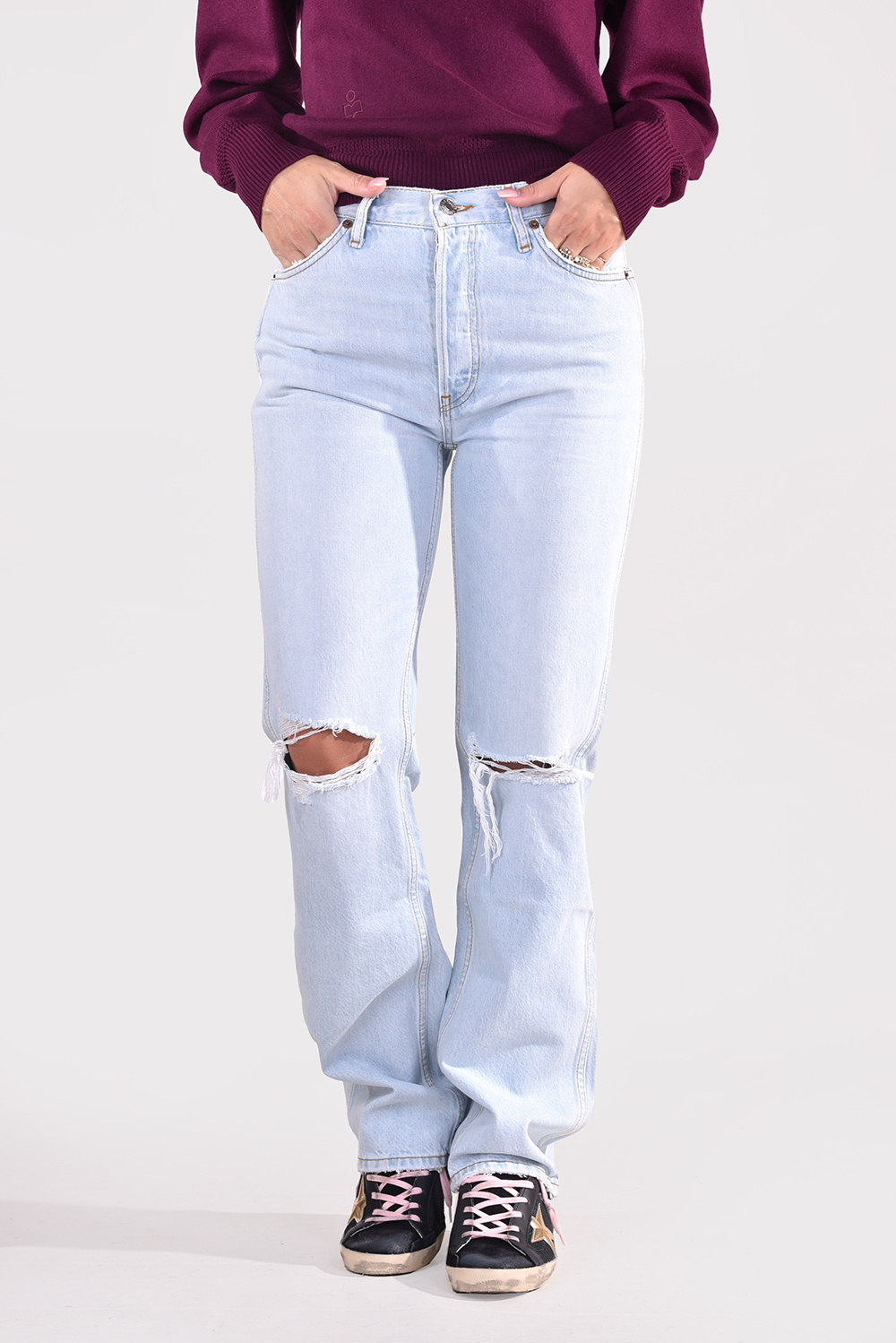 Re/Done jeans 90s High Rise Loose 188-3WHRL/A blauw