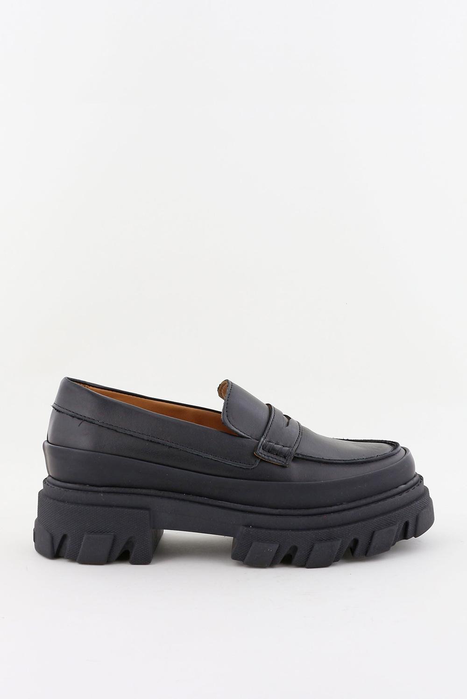 Ganni loafers S1617 zwart