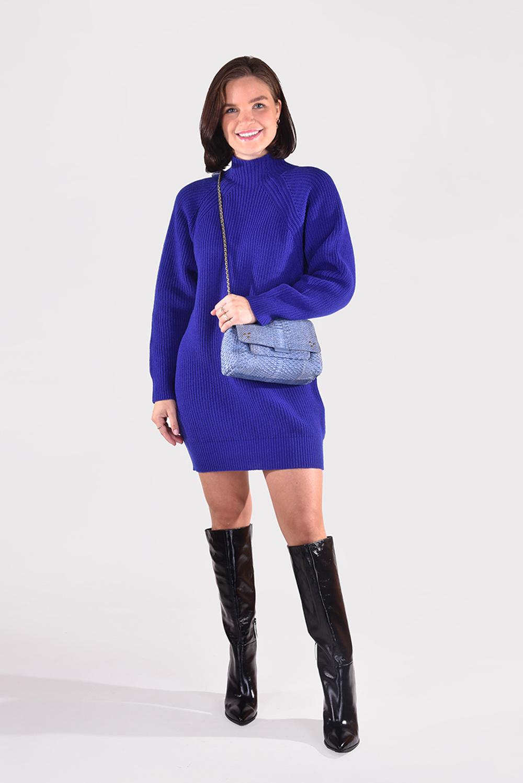 Forte_Forte jurk 8700 blauw