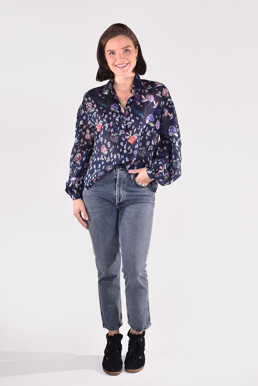 Forte_Forte blouse 8682 blauw