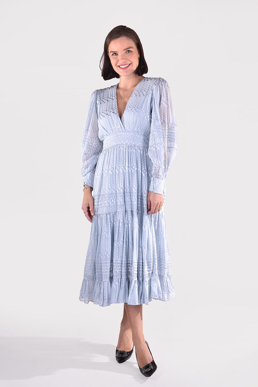 Magali Pascal jurk Marlene D24 blauw