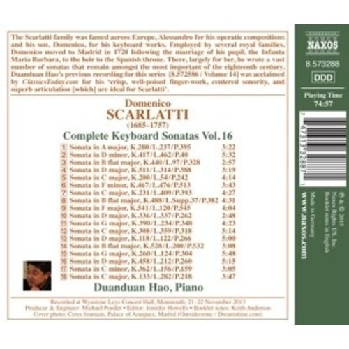 Naxos Complete Keyboard Sonatas, Vol. 16