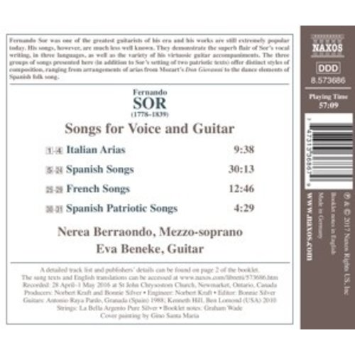 Naxos Songs For Voice And Guitar