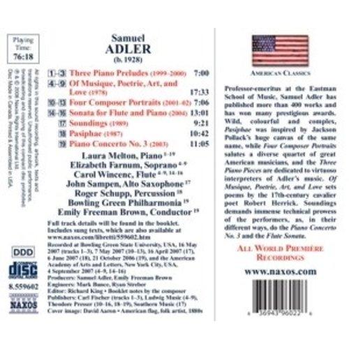 Naxos Adler: Of Musique, Poetrie, Art