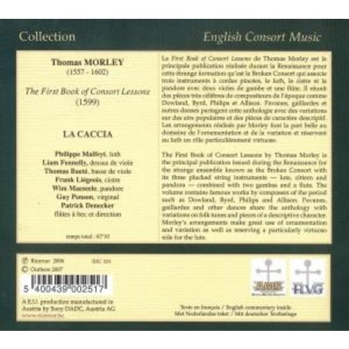 Ricercar First Book Of Consort Lessons