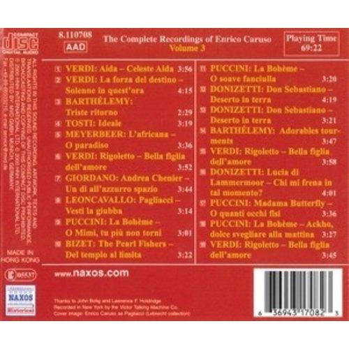 Caruso: Compl.recordings.vol.3