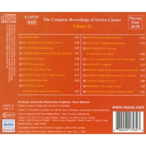 Caruso: Comp.recordings.vol.12