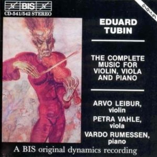 BIS Tubin - The Complete Music For Violin, Viola And P
