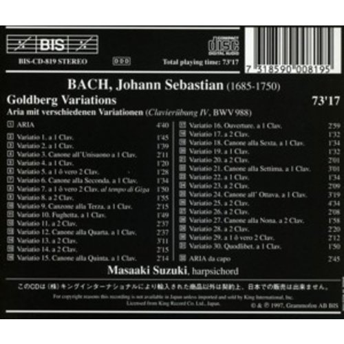 BIS Bach - Goldberg-Var.