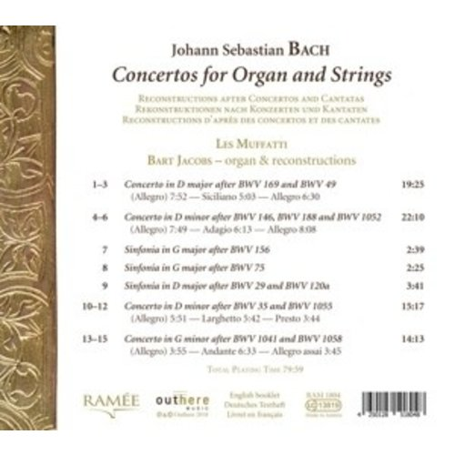 Ramée Concertos For Organ And Strings