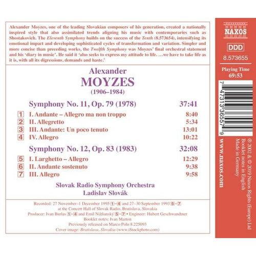 Naxos Moyzes: Symphonies Nos. 11 & 12