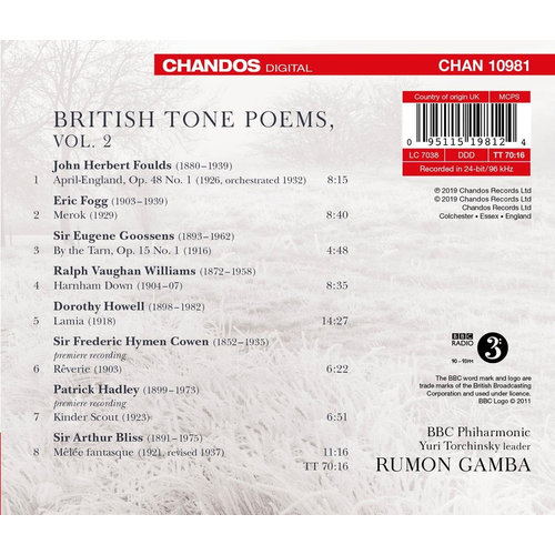 CHANDOS British Tone Poems Vol. 2