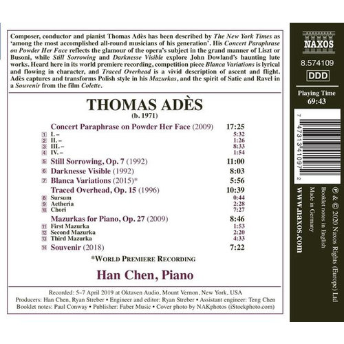 Naxos Ades: Works For Solo Piano