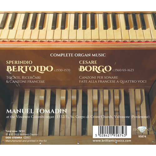 Brilliant Classics BERTOLDO & BORGO: COMPLETE ORGAN MUSIC